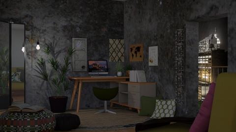 Urban Jungle Office - Modern - Office  - by RaeCam