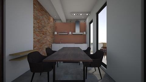 T Et 3 - Minimal - Kitchen  - by adelinaghita