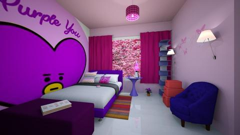 Teenager purple pink room - by lusfale