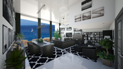 Sea Front Apt 2 - Modern - Living room  - by Joao M Palla