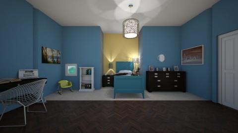 Fav blue bedroom - by Kat Herondale