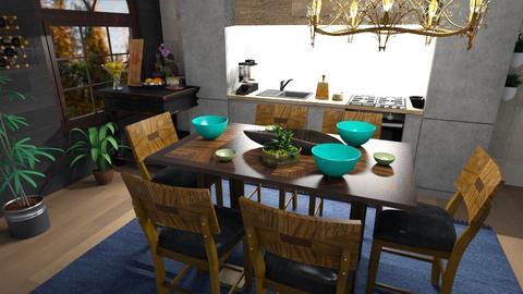 farmhouse kitchen - Rustic - Kitchen  - by BlackOrchidea