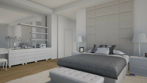 white bedroom - by Anchy0712