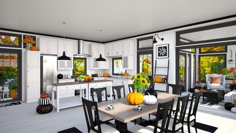 Pumpkin Spice Farm - Kitchen  - by Amyz625
