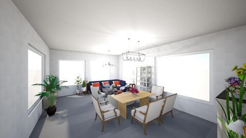 Sala de estar e jantar - Classic - Living room  - by anamsatyroh