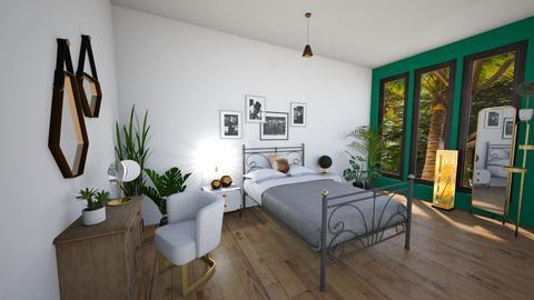 Turqoise Bedroom - Bedroom - by KittyPrincess77