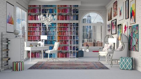 COLORFUL LIBRARY - Eclectic - Office  - by RS Designs