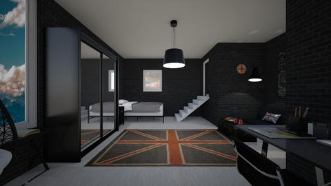 Black bedroom contest - Bedroom  - by Noa Jones