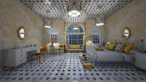 Royal Elegant Bedroom - Glamour - Bedroom  - by Yui Soo