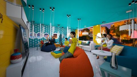 Cinema Family Room - Modern - by MisAmoresMiEncaranayAntoniaHermosur