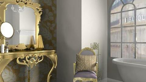 Gold scheme bathroom - Classic - Bathroom  - by rosiedoll