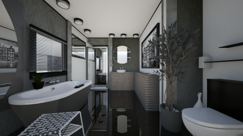 compact urban - Minimal - Bathroom  - by katmills98