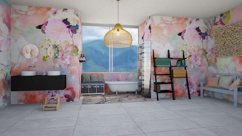 cherry blossom flora bath - Classic - Bathroom  - by aschaper
