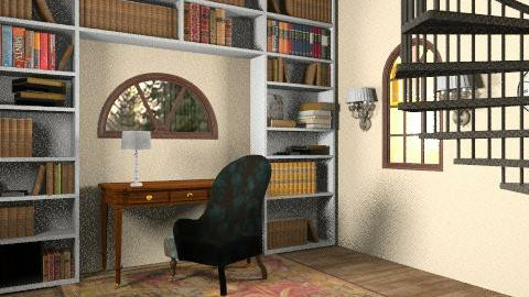 Traditional Loft Study - Classic - Office  - by actie318