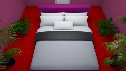 red and purple - Bedroom  - by gamewiner