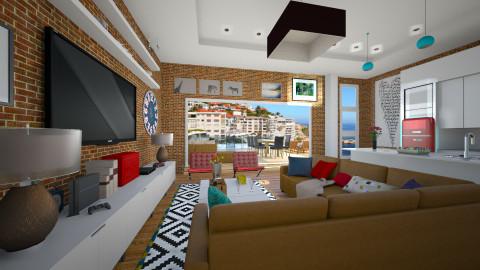 HUB - Rustic - Living room  - by Nhezi