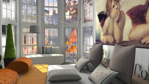 room with a view4 - Retro - Bedroom  - by calu13