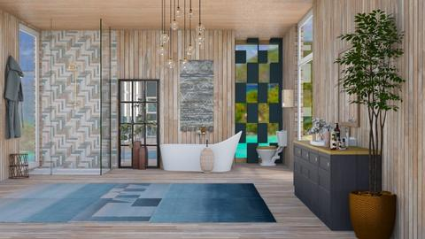 seaside bathroom - Modern - Bathroom  - by vxckzz
