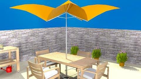 Beach House Patio  FINAL - Classic - Garden  - by JenniferLewi