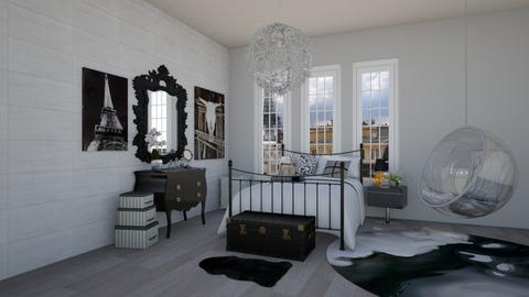 black n white - Bedroom - by kshmvg