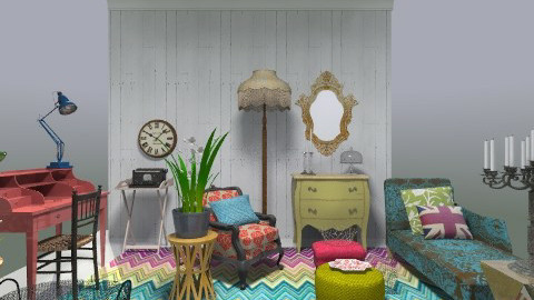 Liuwa rug room for blog - Eclectic - Living room  - by toadfool