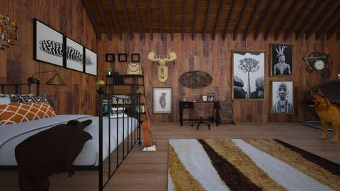 Attic Bedroom - Rustic - Bedroom  - by 00l0ps