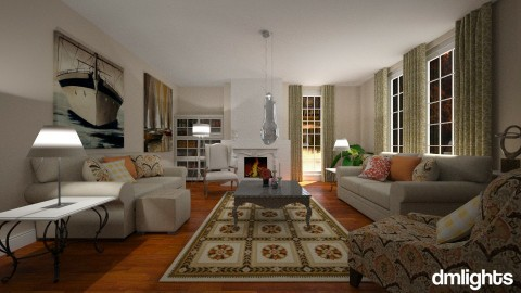 Classic Living - Living room - by DMLights-user-1310825