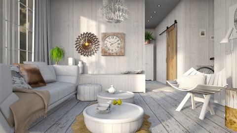 White piglet - Living room  - by Liu Kovac