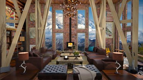 Mountain View - Masculine - Living room - by LuzMa HL