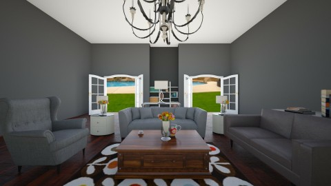 Living Room and Yard View - by Julieisawesome
