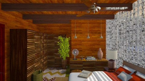 1970 Bedroom - Retro - Bedroom  - by xx_cordelia_xx