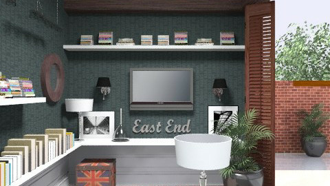 3x3 TV room - Eclectic - by du321
