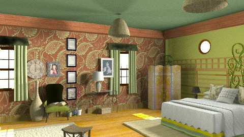 Lara Croft bedroom - Rustic - Kitchen  - by ATELOIV87