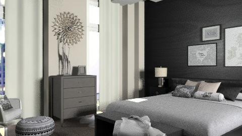BlackWood bedroom.... - Modern - Bedroom  - by KittiFarkas