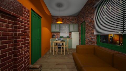 Micro Apartment 3 - Living room  - by SammyJPili
