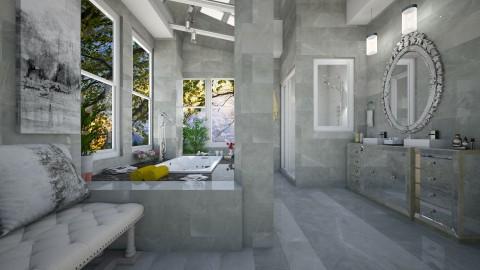Marmore  cinza  - Bathroom  - by Roberta Coelho