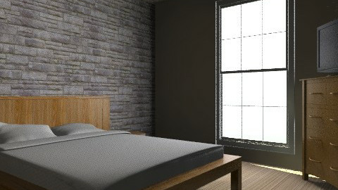 Concept Bedroom (from entrance) - Retro - Bathroom  - by russell_brandon
