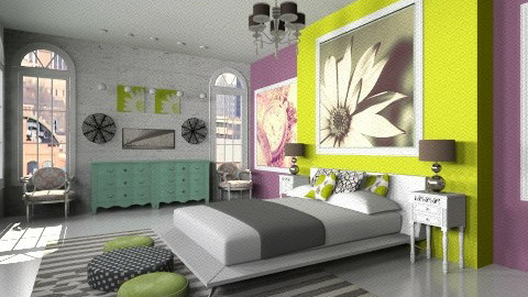 Modern Vintage Room - Vintage - Bedroom  - by BriaFaith