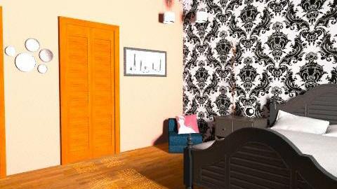 Salmon Pink/ Black 4 - Vintage - Bedroom  - by Dancer363