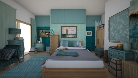 Turquoise Bedroom - Bedroom - by ilikalle