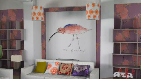 Purple and orange  - Classic - Living room  - by toadfool