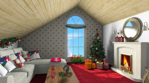 Christmas attic - Classic - Living room  - by Piechowiak Monika