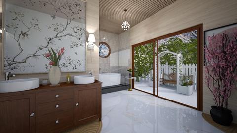 Cherry Blossom Bathroom - Bathroom  - by ashpashly