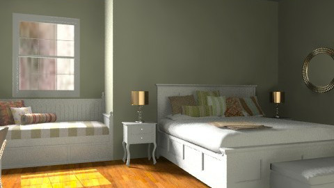 Classic Green Bedroom - Classic - Bedroom  - by Katherine100