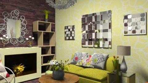 kdvs - Retro - Living room  - by sarahl