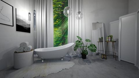 Green and White Bathroom Remix - Bathroom - by mydreamjob25