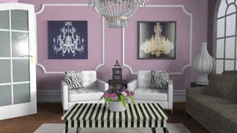 Glamorous Purple - Feminine - Living room - by elliefant