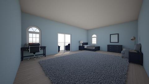 Navy Blue Bedroom  - Bedroom  - by midnightspotlight