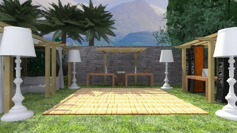 Outdoor chik party - Classic - Garden  - by wagner herbst padilha