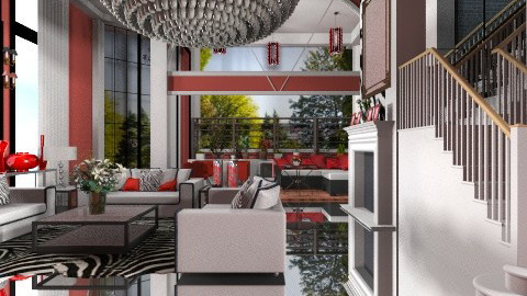 zebra house - Minimal - Living room  - by oliricescarraman